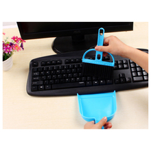 Mini Car Keyboard Cleaning Whisk Broom Dustpan Set(China)