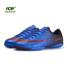 YILINGYI Sport Soccer Shoes Outdoor Lawn Turf Football Boots Footwear Cleated Shoes 2017 Superfly Sneaker Studded Boots ZQX013
