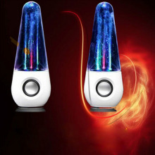 1Pair LED Dancing Water Music Fountain Light Speakers for PC Laptop for iPhone for iPad4 for iPod Wholesale