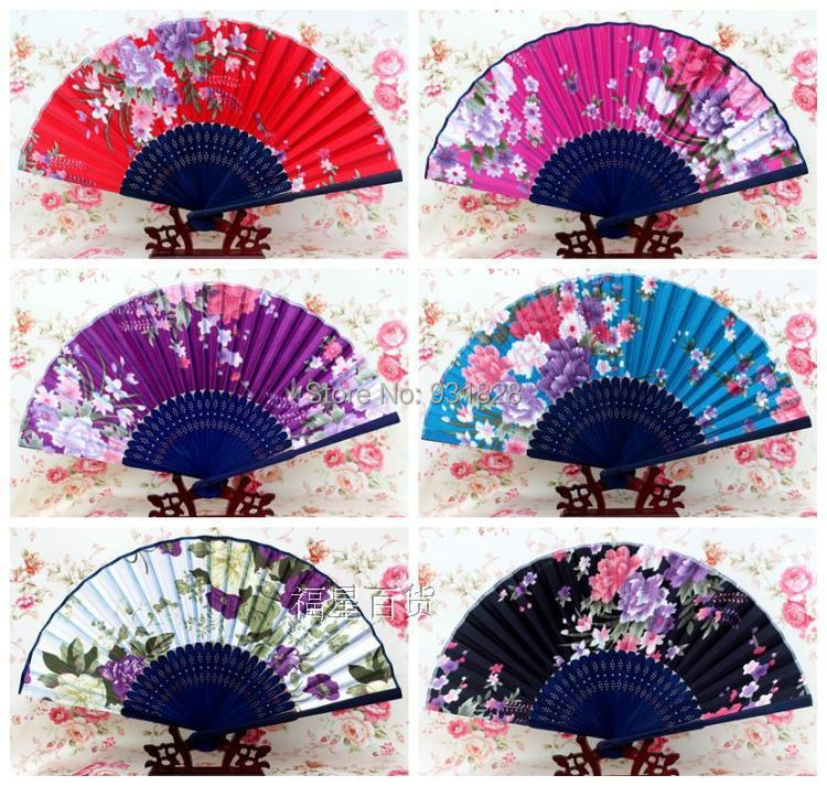 Aliexpress Com Bamboo Chinese Paper Fans Printed Flowers Ancient Hand Anese Folding Dancing Fan Fashion Wedding Party Decorations Gifts From