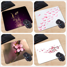 Beautiful Lady Love Elegant Purple Bossom Flower Custom Made Computer Mouse Mat High Quality Resistant to Dirt Cheap Mouse Pad