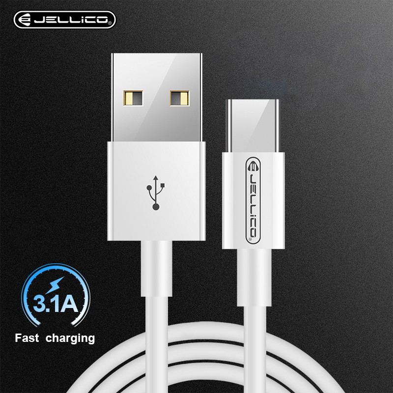 Jellico USB Type C Cable for One Plus 6 5t Quick Charge USB C 3.1A Fast Charging USB Charger Cable for Samsung Galaxy S9 S8 Plus
