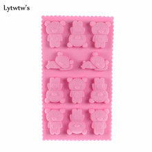 1 Pieces Lytwtw's Hot Wholesale 8 Holes Rilakkuma Bear Muffin Case Candy Jelly Ice Cake Silicone Mould Mold Baking Pan Tray Tool(China)