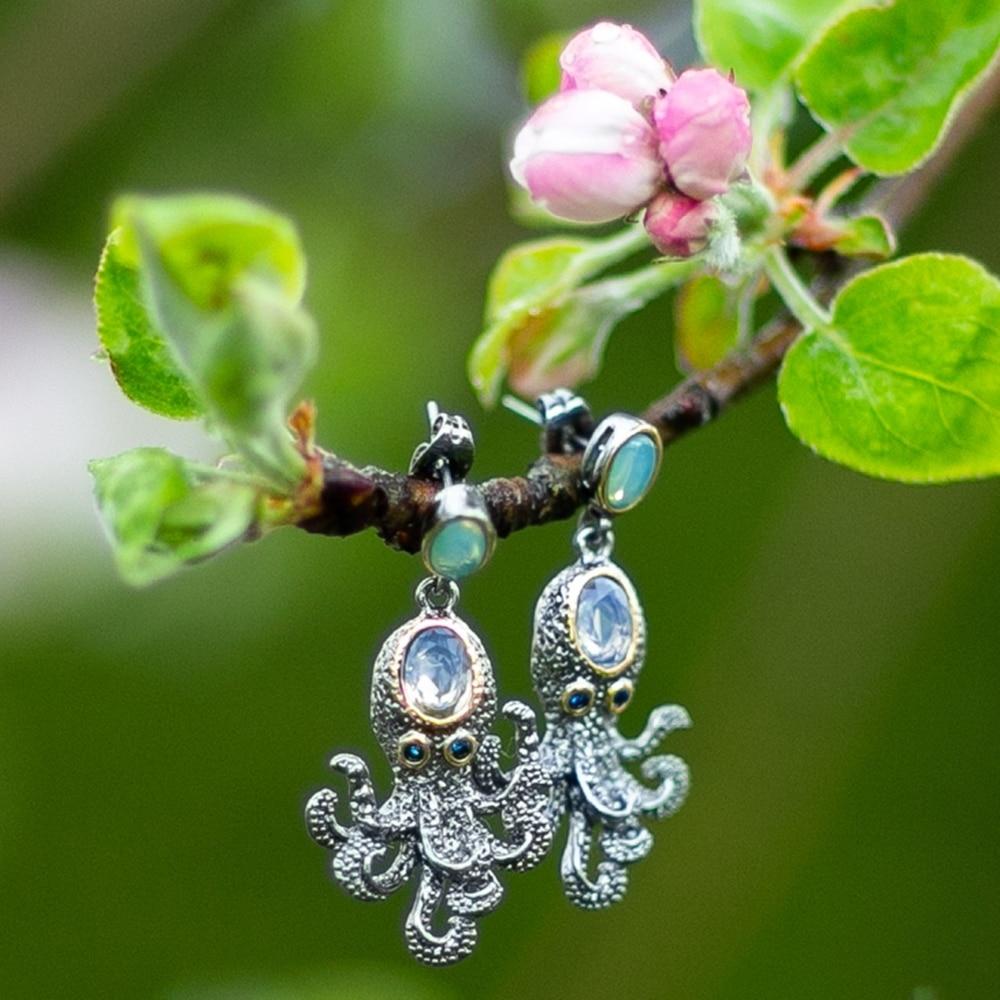 WE3875 octopus earrings women vintage gothic jewelry (10)