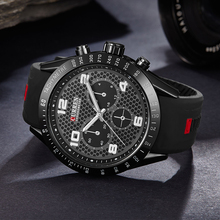 Curren Black Silicone Mens Watches Top Luxury Brand Famous Male Sports Watches Prices Analog Rubber Quartz Man Wristwatch Uhren