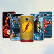 Comic Book Collages flash man logo design hard transparent Case for Samsung Galaxy A7 2017 A8 A9 A5 A7 A3 2016