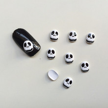 50pcs/lot Metal Skull 3d Nail Art Decoration Charm Design Nail Tools DIY Halloween Cosplay Nail Accesories