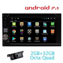 6.2'' 2din Android 7.1 Car Stereo Receiver Bluetooth GPS Navigation Wifi Web Browsing, APP Dowanlod Car dvd player+Rear Camera(China)