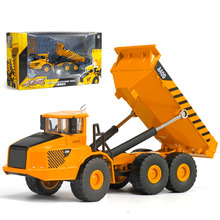 Backhoe Loader truck Model boys Car toy Alloy Transport Engineering Vehicle model educational Toys For Kids Children Gifts new(China)