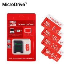 100% real capacity memory card red micro sd card 64GB 32GB 16GB class 10 TF card mini memory flash card 8GB 4GB For Mobile Phone