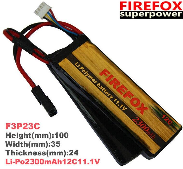 1pcs 100% Orginal Firefox 11.1V 2300mAh 12C 2 cellLi Polymer battery AEG Airsoft Battery FX1108D F3P23c Drop shipping<br>