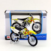 Free Shipping/Maisto Toy/Diecast Metal Motorcycle Model/1:18 Scale/Suzuki RM-Z250 SuperCross/Educational Collection/Gift For Kid(China)
