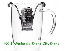 Hot Sale Free shipping creative kikkerland robot Infuser ,tea-strainer, coffee/tea tools