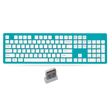 Light Portable Wireless Keyboard Power saving Laptop Office Computer Slim Mute Silent 104 keys Keyboard long life with battery