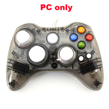 10pcs a lot PC USB Wired Game Controller LED Light Vibration Joystick Not compatible for xbox360 Gamepad Joypad Computer(China)