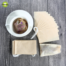 100Pcs/Lot Wooden Color Empty Tea Bags 5 x 6.2 CM Popular Healthy String Tea infuser Heat Seal Filter Paper Herb Loose Tea Bags(China)
