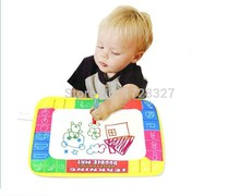 Free shipping 29X19cm CP1366 4 color Water Drawing Toys Mat Aquadoodle Mat&1 Magic Pen/Water Drawing board/baby play mat WJ028(China)