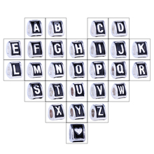 "1piece English Alphabet Letters ""A"" to ""Z"" Antique Silver Plated Beads Charms fit DIY Pandora Jewelry Making Bracelet Bangle(China)"
