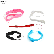50pcs/lot Black/Red/Blue/Pink /White 5 Color Wrist Strap Hand Strap For Wii WiiU Remote Controller PS3 Move Controller/PSV/3DS(China)