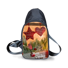 Wholesale 3D Merry Christmas Print Chest Bag Woman Big Canvas Crossbody Cute Reindeer Travel Shoulder Bags For Girls FORUDESIGNS