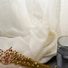 CITYINCITY American Country Rural Curtains for Livingroom Tulle Soft sheer White Voile  Block Colour Curtain for bedroom