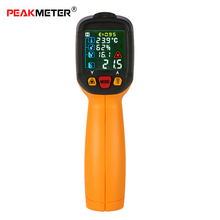 Digital Thermometer Infrared IR termometro Temperature Humidity Dew Point Tester Thermocouple in UV Light Adjustable Emissivity