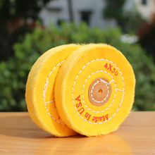 4'' 100mm Yellow Sawing Cloth Polishing Wheel for Various Glazing Machine to Buffing Metals & Grinding Crystal 50 Floors Covers