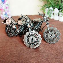 Handmade Mini Metal Model Motorcycles Alloy Diecast Toys for Kids Birthday Gift Home Room Decor Magic Iron Crafts