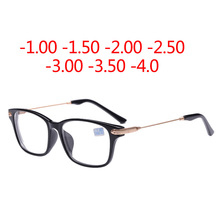 Good quality Myopia Eyeglasses 2017 Hot Optical Men Women student Eyewear prescription Glasses Frame -1.0 -2.0 -4.0(China)