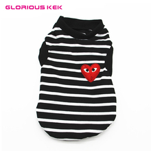 GLORIOUS KEK Black Stripes Dog t shirts Summer Dog Clothes Brand New Pet Vest Shirt for Small Dogs Cotton Cool Cat Clothes XS-XL(China)