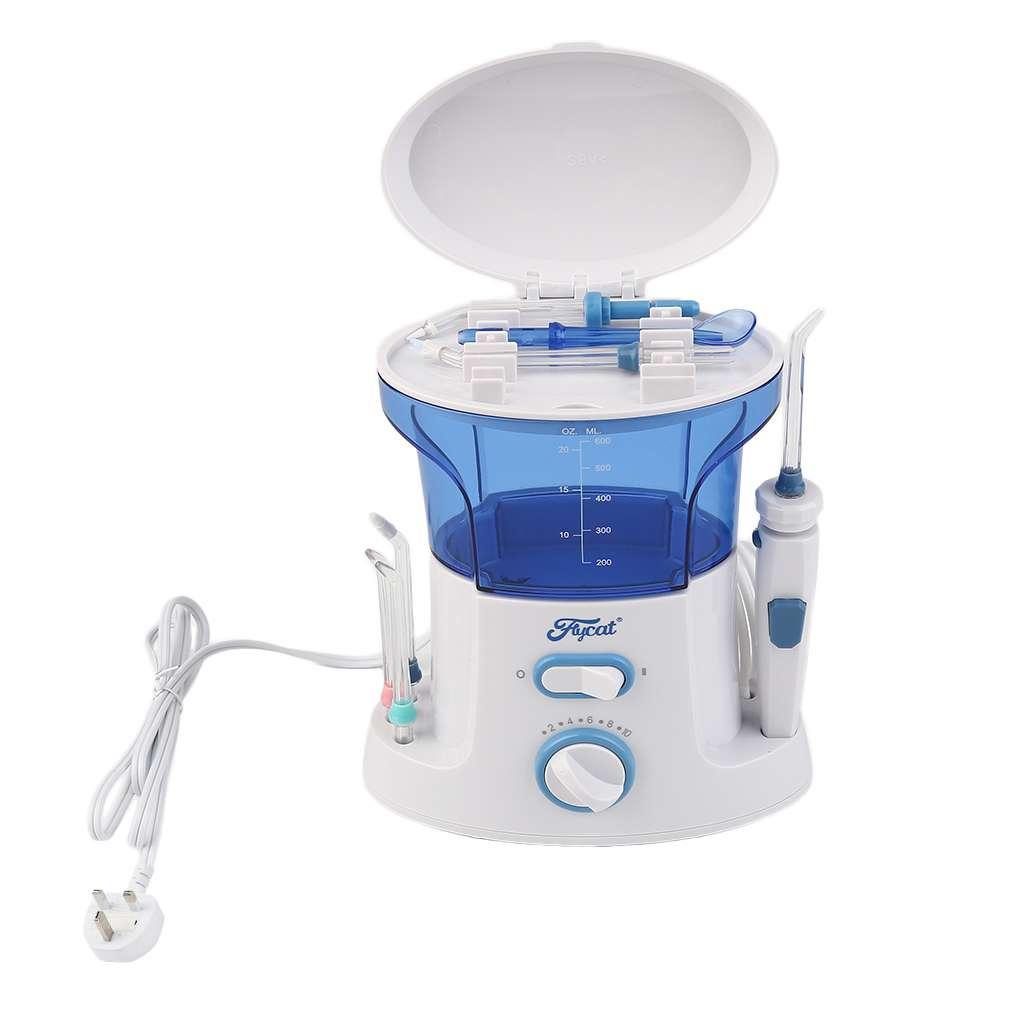 Simple Design Portable LV850 Dental Floss Water Oral Flosser Desktop Water Floss Oral Hygiene Dental Care Flossing Set UK Plug<br>