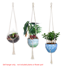WITUSE Cheap! 3 Size Vintage Knotted Plant Hanger Basket Flowerpot Holder Macrame Lifting Rope Garden Home Decor Plant Display(China)
