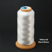 0.25mm/0.50mm/0.75mm Durable 700M/480m/300m Nylon Waxed Thread string Cord jewely findings for DIY Stitching Thread