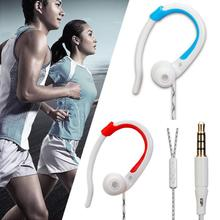 FS-803 3.5mm Ear hook Earphone Wire Control Headphone Sports Earphone With 2 Colors For Choice(China)