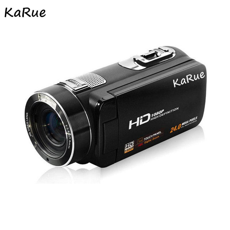 Karue HDV-Z816x Digital Zoom Max. 24MP 1080P Full HD Digital Video Camera Camcorder with Digital Rotation LCD Touch Screen 8
