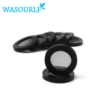 10 pcs  G1/2 20mm Free shipping shower head mesh filter rubber shower nozzle hose rubber gasket 304 stainless steel filter