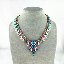 Buy Unique Candy Colors Jewelry Statement Necklace Water Drop Bib Collar Chokers Necklace & pendants Beaded Chain Ror Women for $6.45 in AliExpress store