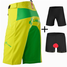 SAENSHING New Cube Shorts Men Cycling Shorts + 3D Padded Underwear Downhill MTB Bicycle Mountain Bike Short Pants Brand Bermuda