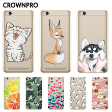 Buy CROWNPRO Redmi 5A Case Silicone Xiaomi Redmi 5A Soft Cover Painted TPU Xiaomi Redmi 5A Phone Back Cases Clear Fundas for $1.20 in AliExpress store