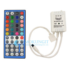 DC 12V-24V 44 Key 6A IR Infrared Music Remote Controller+ IR Music Controller 20 Colors for RGBW LED Strip Light 5-Pins
