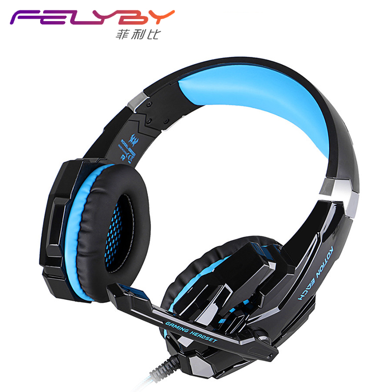 Single 3.5mm + USB Luminous Game Headset G9000  Microphone Cool Laptop Professional Game Configuration Professional Game Headset<br>
