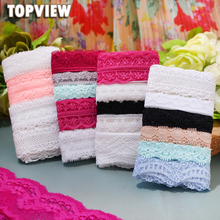 freeshipping 0.5-3cm 100 yard Mix design lace fabric ribbon border lace trim sewing material accessories