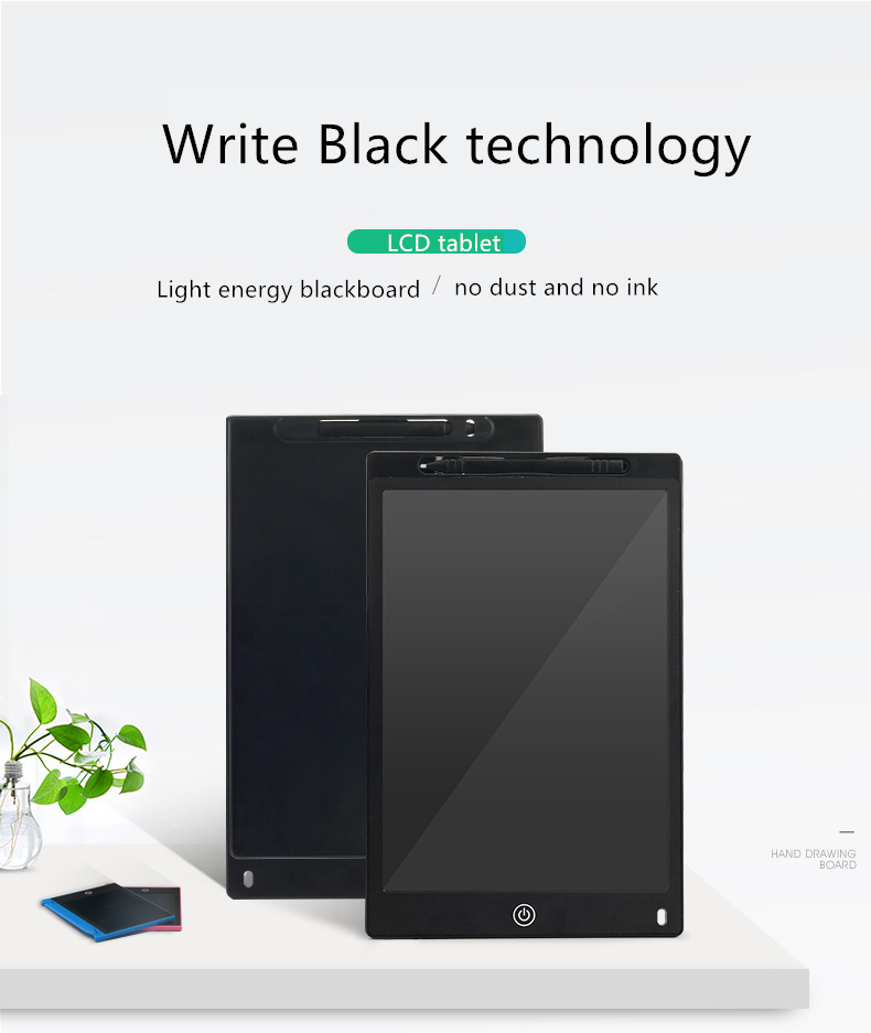 LCD Tablet Childrens Drawing Board Graffiti Electronic Small Blackboard Light Can Write Board Hand LCD Hand-Painted Screen Color : Red Fighrh New LCD Tablet 10 Inch LCD Writing Tablet Kids