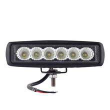 led day time running light spot offroad 18w LED worklight lamp 12V/24V Tractor 4x4 Motorcycle External Light bar(China)