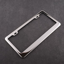 Car Chrome Plate Stainless Steel Silver License Frames Screw Caps Cover