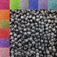 LNRRABC 8mm 100pcs/lot New Arrival Round Acrylic Beads Rhinestones Charms Bead For Necklace Bracelet DIY(China)
