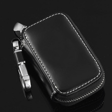 Leather car Key Case For Jeep Compass Grand Cherokee Wrangler Patriot Dodge Journey Chrysler 300C Keychain For Keys Car Key Bag