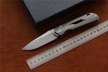 LiBing Mechanic folding knife,Blade:M390,Handle:TC4,outdoor camping hunting pocket fruit knife EDC tools(China)