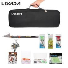 Lixada Telescopic Fishing Rod Reel Combo Full Kit Spinning Reel Pole Set with Fish Line Lures Hooks Bag Case 2.1/2.4/2.7/3M