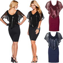 Sequin Dress Tenue Sexy Vestido De Festa Women Party Dresses Robe Paillette Christmas Runway Designer Gothic Elegant 9822-125